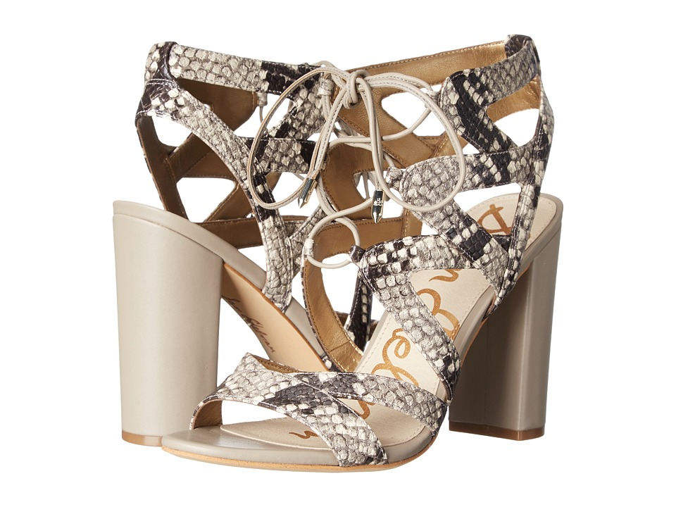 Sam Edelman - Yardley (Putty Shiny Burmese Python Print) High Heels