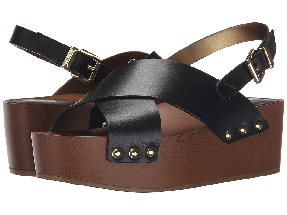 Sam Edelman - Bentlee (Black Vaquero Saddle Leather) Women's Sandals