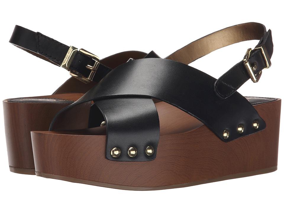 Sam Edelman - Bentlee (Black Vaquero Saddle Leather) Women's Sandals