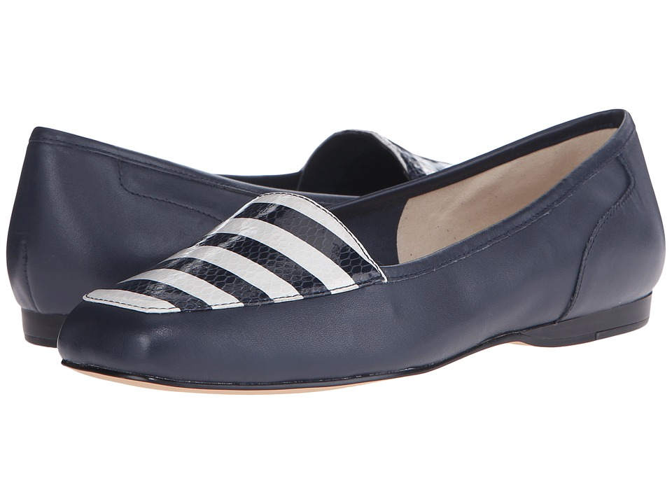 Bandolino - Liberty (Navy Multi Leather) Women's Slip on Shoes