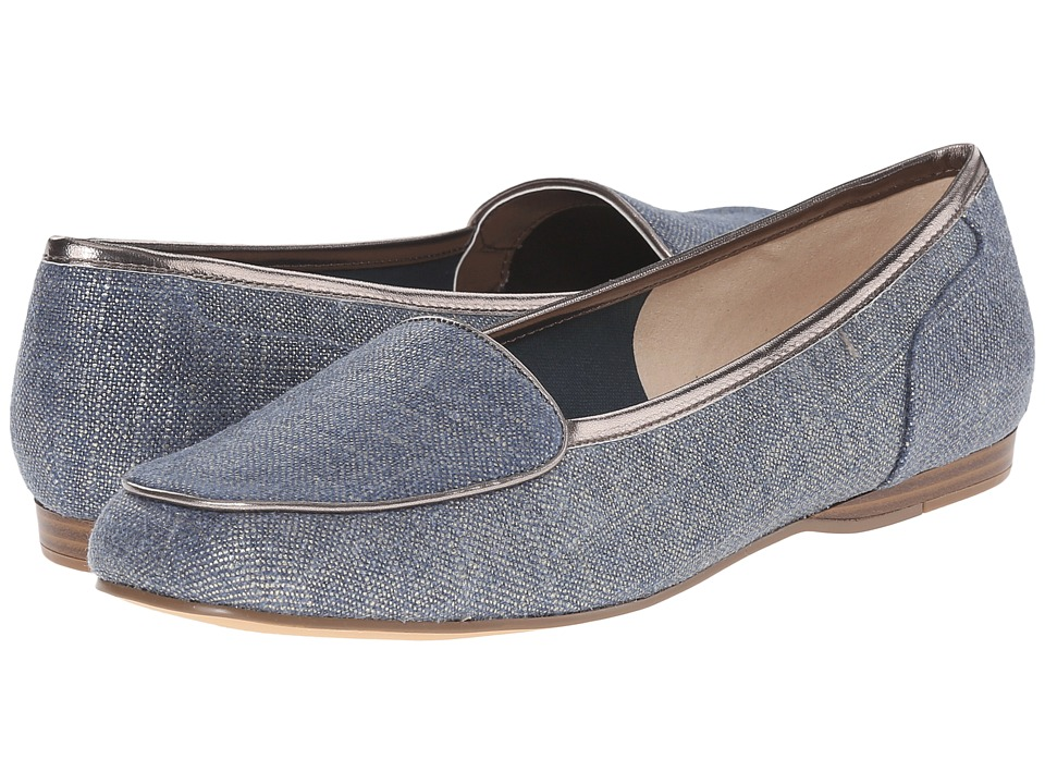 Bandolino - Liberty (Dark Blue/Taupe Fabric) Women's Slip on Shoes