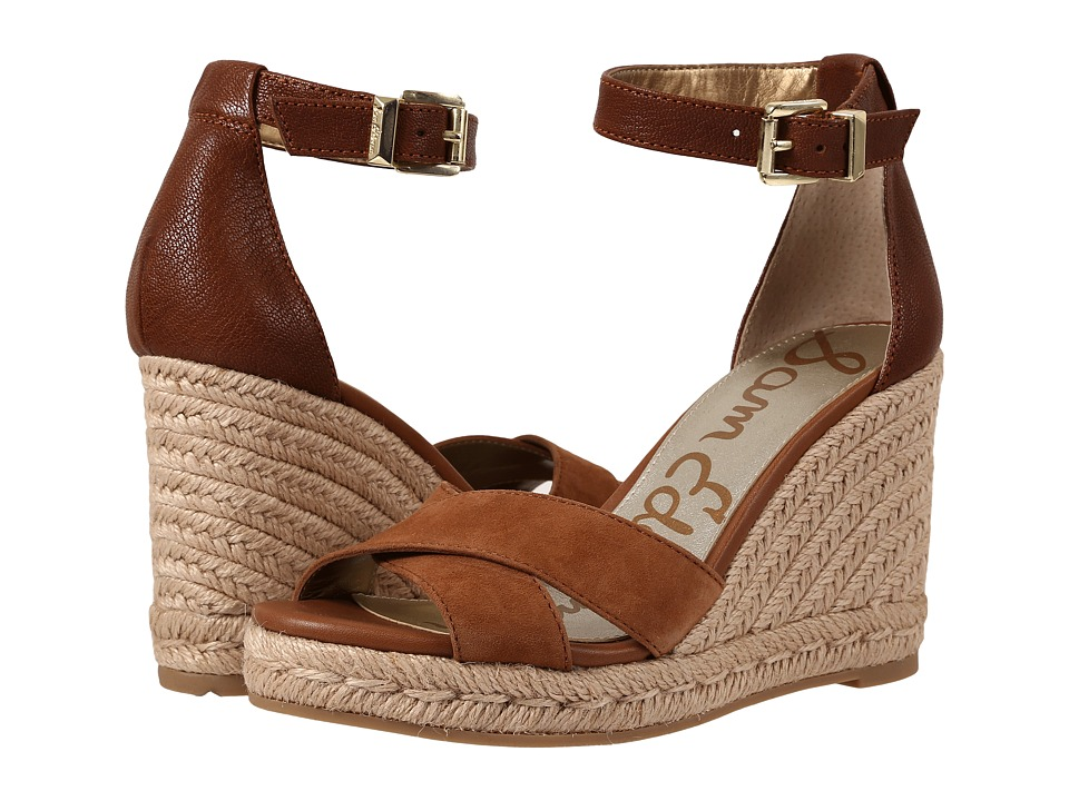 Sam Edelman - Brenda (Saddle Kid Suede Leather/Matte Ontario Leather) Women's Wedge Shoes