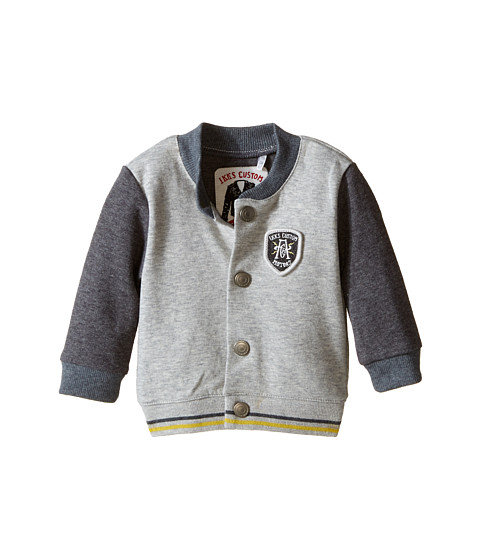 IKKS - Letterman Style Jacket (Infant/Toddler) (Gris Chin) Boy's Coat