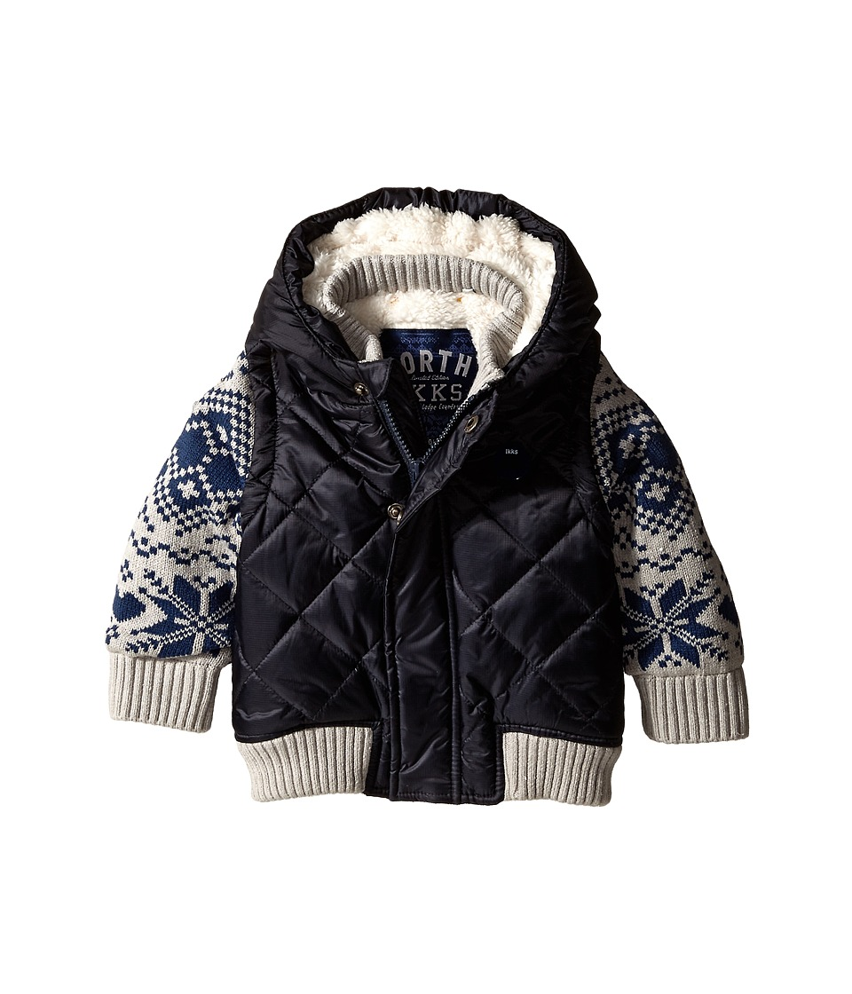 IKKS - Fair Isle Knit Sleeves Jacket (Infant/Toddler) (Marine) Boy