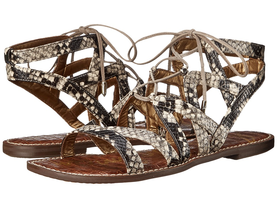 Sam Edelman - Gemma (Putty Shiny Burmese Python Print) Women's Sandals