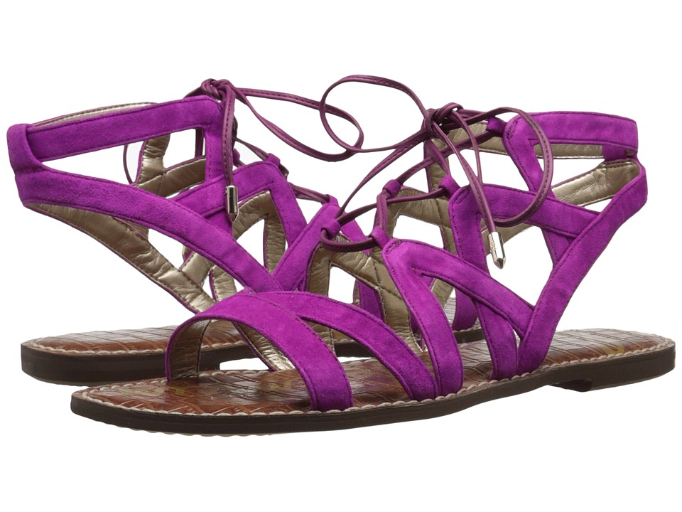 Sam Edelman - Gemma (Pop Fuchsia Kid Suede Leather) Women's Sandals