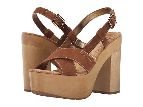 Womens Sandals Sam Edelman Mae Moss Green Velour Suede Leather