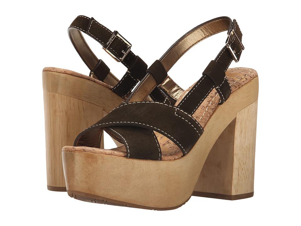 Sam Edelman - Mae (Moss Green Velour Suede Leather) High Heels