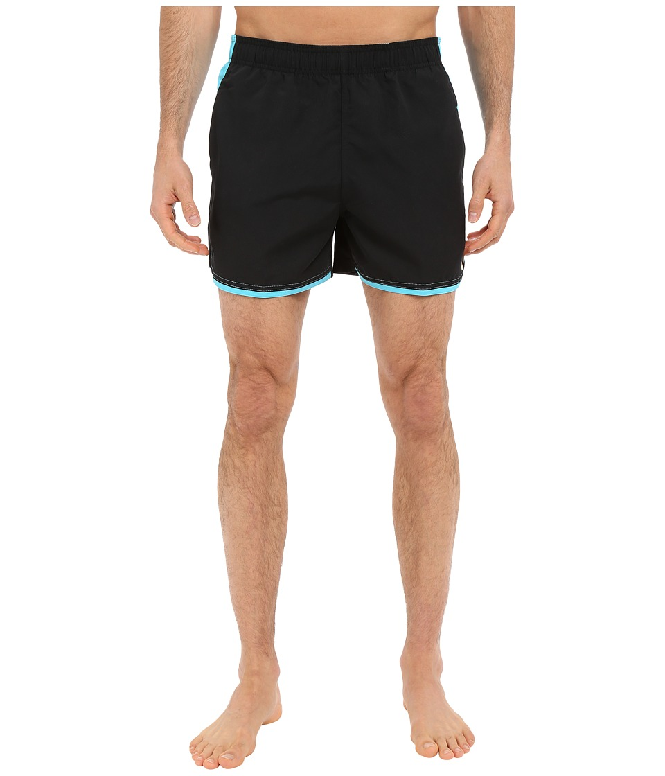 Nike - Color Surge Current 4 Volley Short (Black) Men's Swimwear
