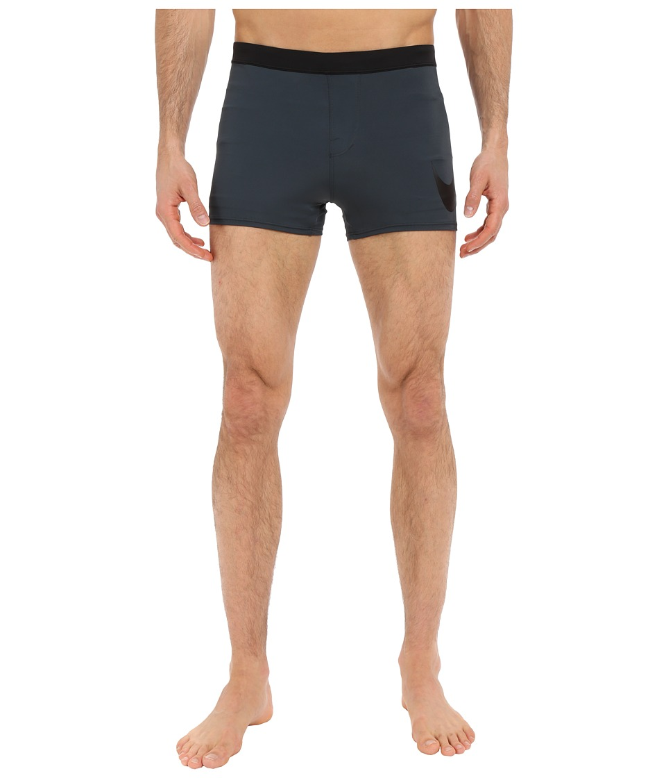 Nike - Metro Big Swoosh Square Leg Swim Trunk (Charcoal) Men's Swimwear