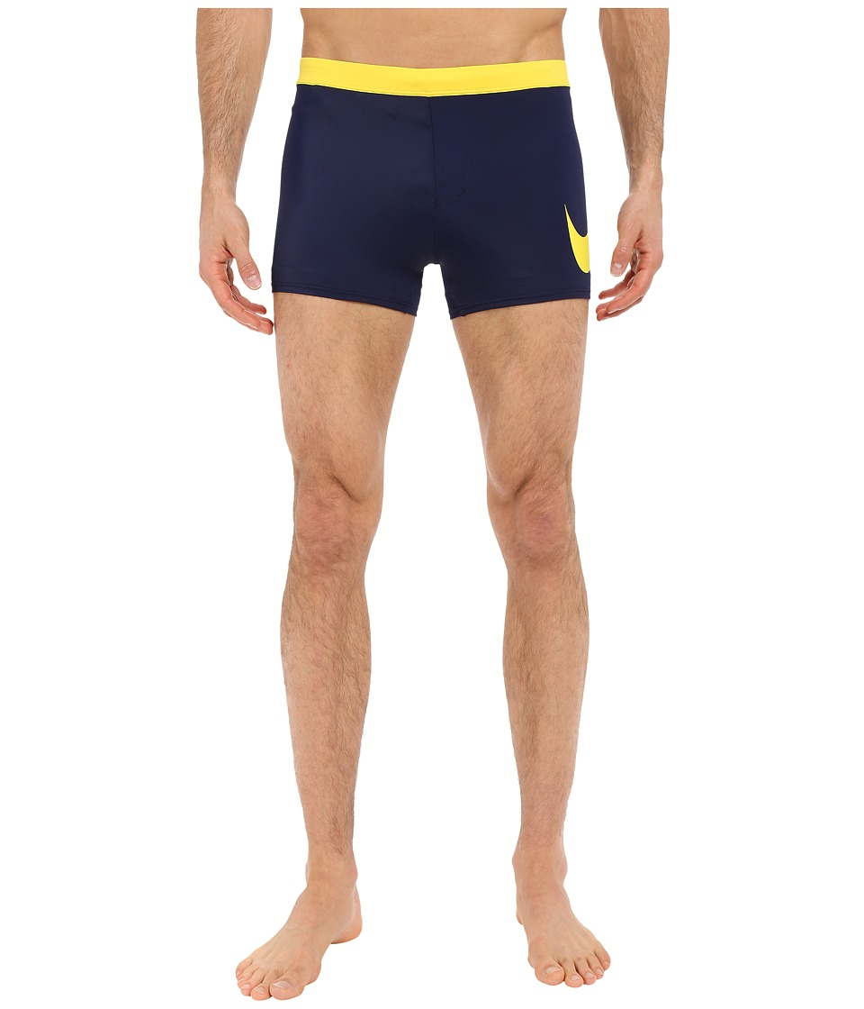Nike - Metro Big Swoosh Square Leg Swim Trunk (Navy) Men's Swimwear