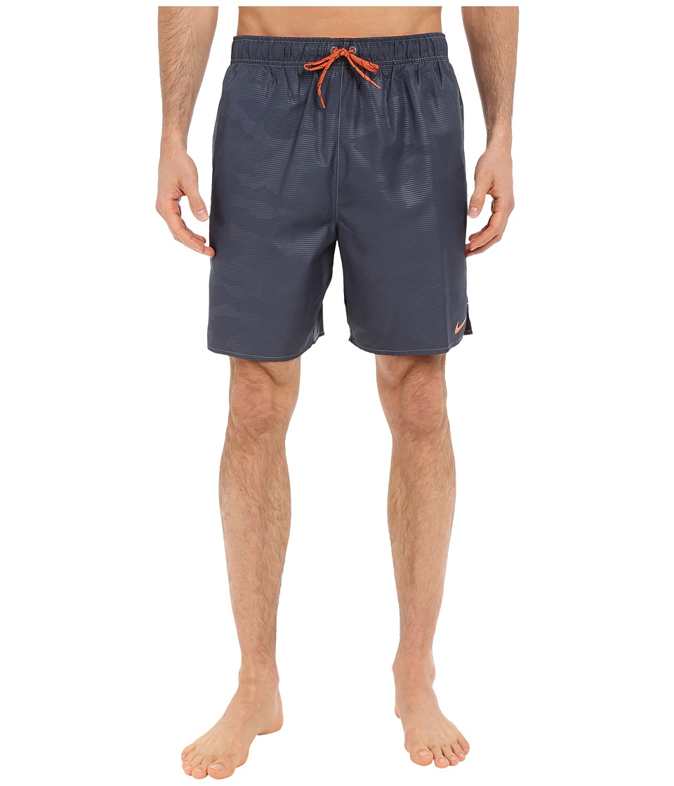 Nike - Core Camocean 7 Volley Short (Charcoal) Men's Swimwear