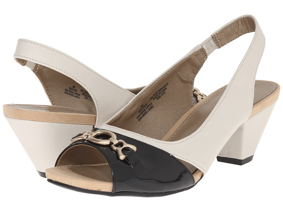 Bandolino - Ryker (Off-White/Black Synthetic) Women's Shoes
