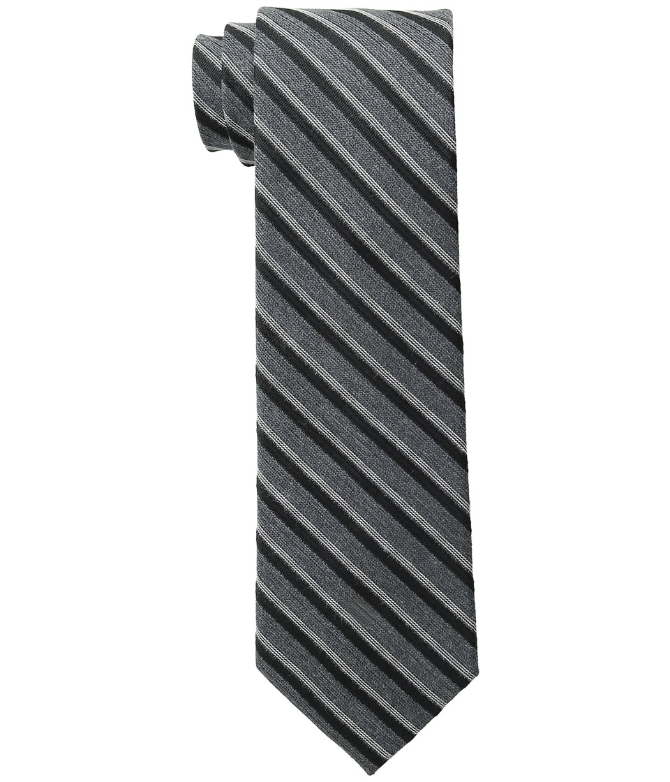Calvin Klein - Flannel Satin Stripe (Black) Ties