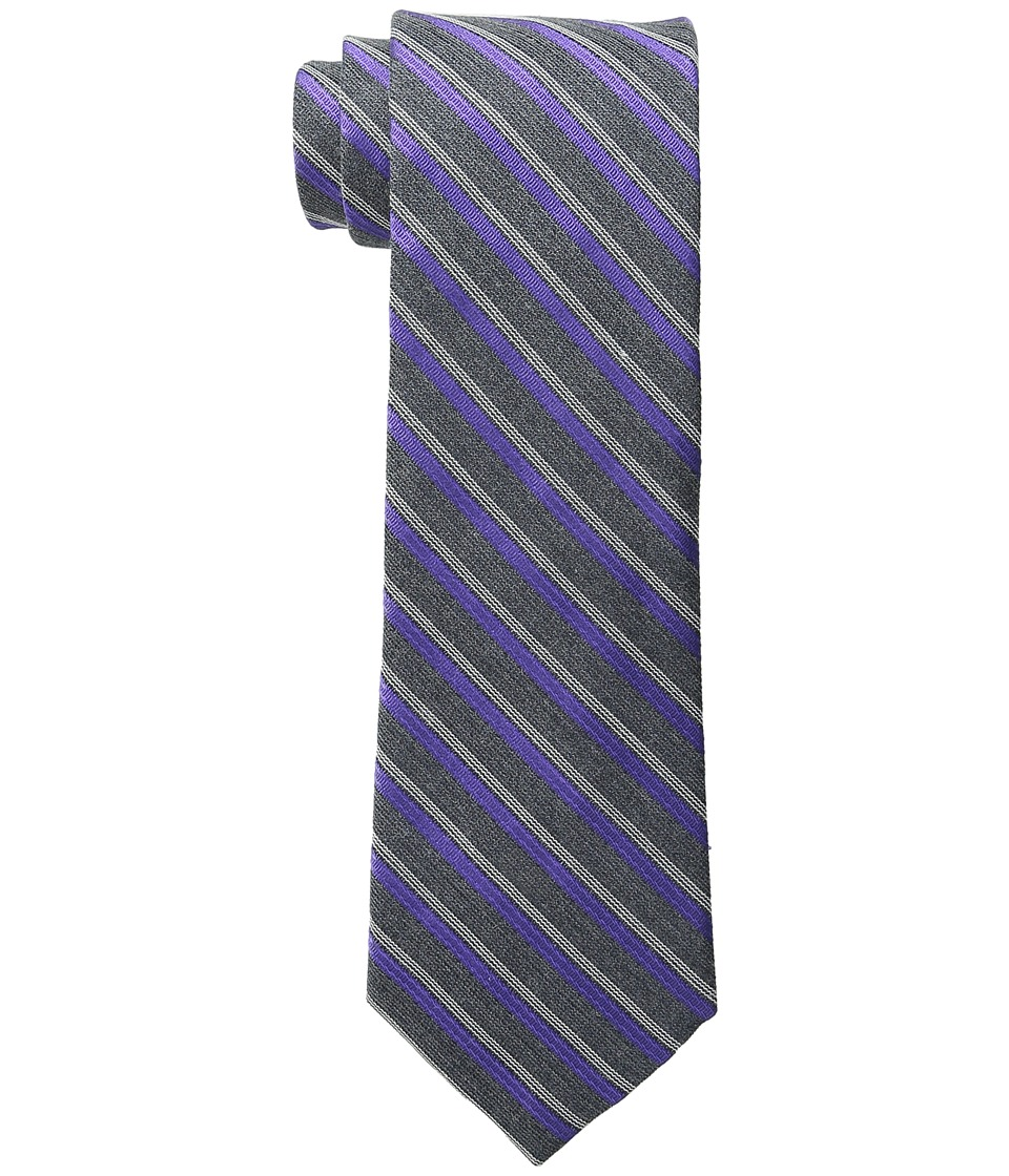 Calvin Klein - Flannel Satin Stripe (Purple) Ties