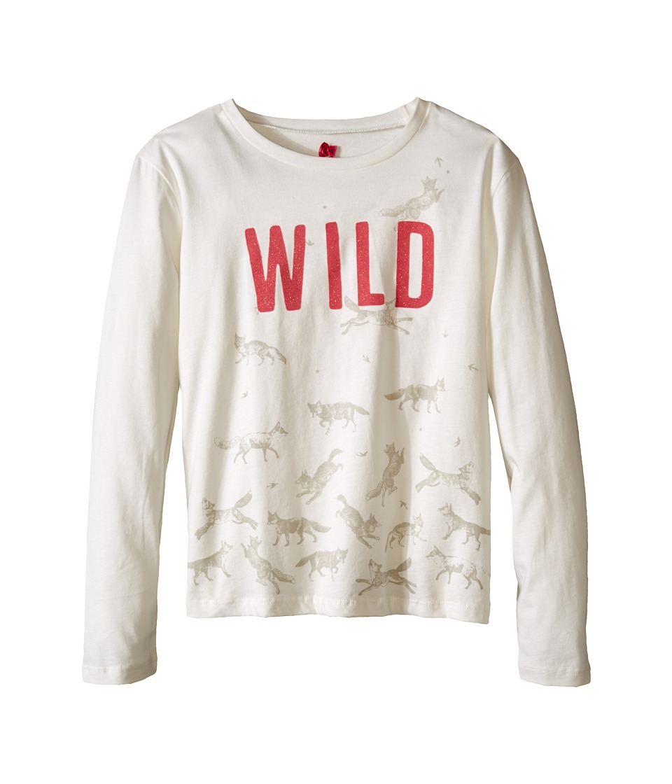 IKKS - Wild Horse Print Long Sleeve Tee (Little Kids/Big Kids) (Blanc Casse) Girl