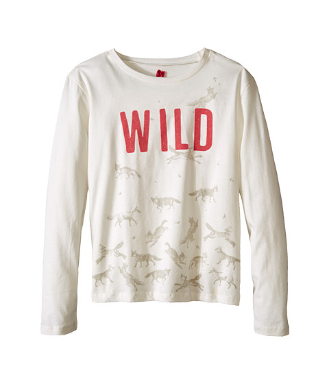 IKKS - Wild Horse Print Long Sleeve Tee (Little Kids/Big Kids) (Blanc Casse) Girl's T Shirt