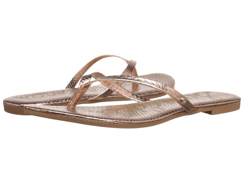 Sam Edelman - Oliver (Oro Ramato Bomber Iguana Crom) Women's Sandals
