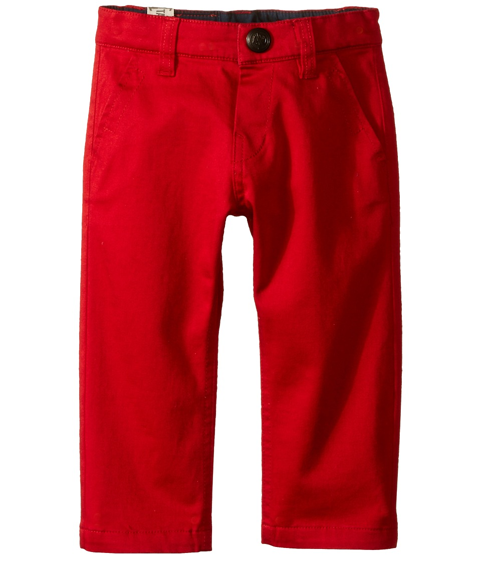IKKS - Chino Pants with Brushed Linen Lining (Infant/Toddler) (Rouge) Boy's Casual Pants