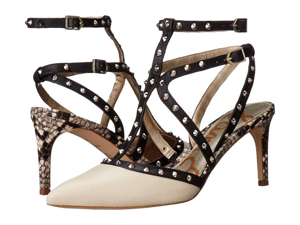 Sam Edelman - Ocie (Modern Ivory/Black Modena Calf Leather/Atanado Leather) High Heels