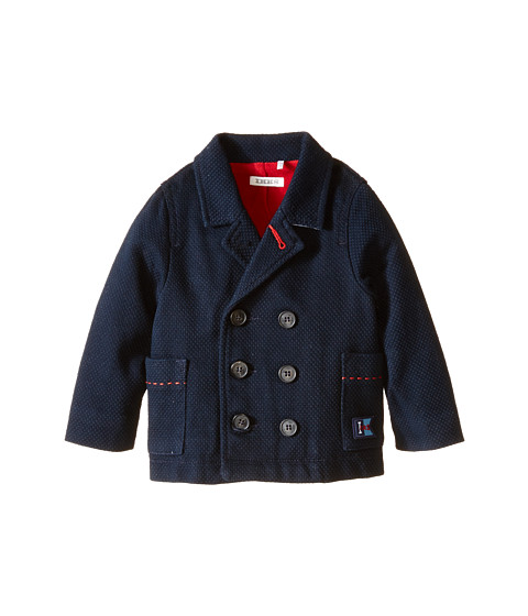 IKKS - Heavy Blazer Jacket with Sailor Buttons (Infant/Toddler) (Marine) Boy