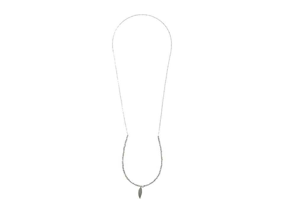 Vanessa Mooney - Carry On Leaf Necklace (Silver) Necklace