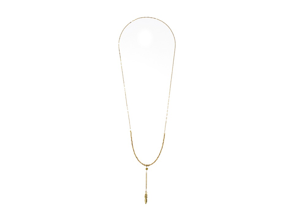 Vanessa Mooney - Versions Of Me Feather Necklace (Gold) Necklace
