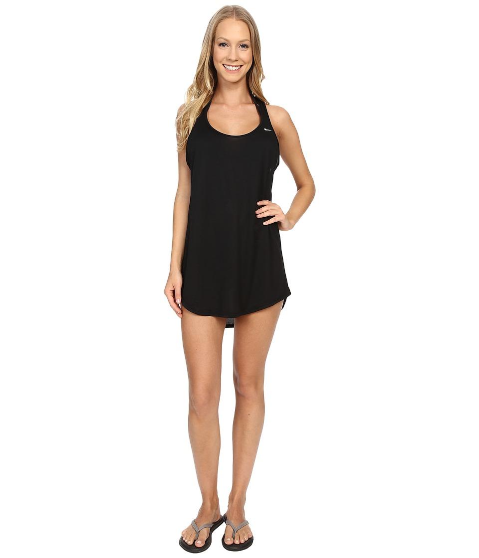 Nike - Cover-Up Swim Tank Dress (Black) Women's Swimwear
