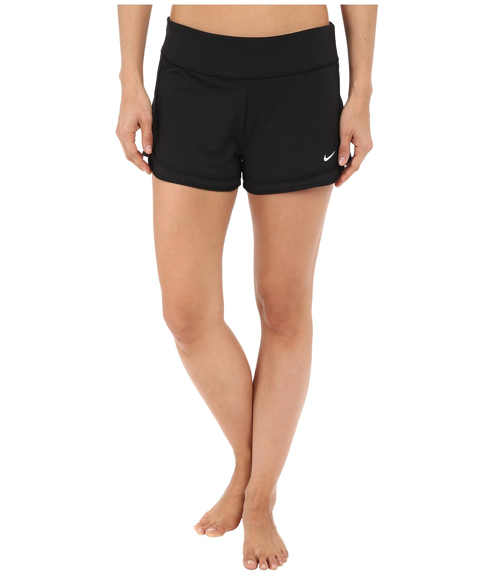Nike - Cover-Up Shorts (Black) Women's Swimwear