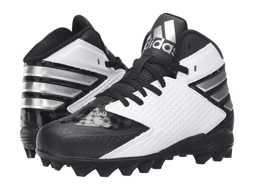 adidas Kids - Freak MD J Football (Little Kid/Big Kid) (Black/Platinum/White) Boys Shoes