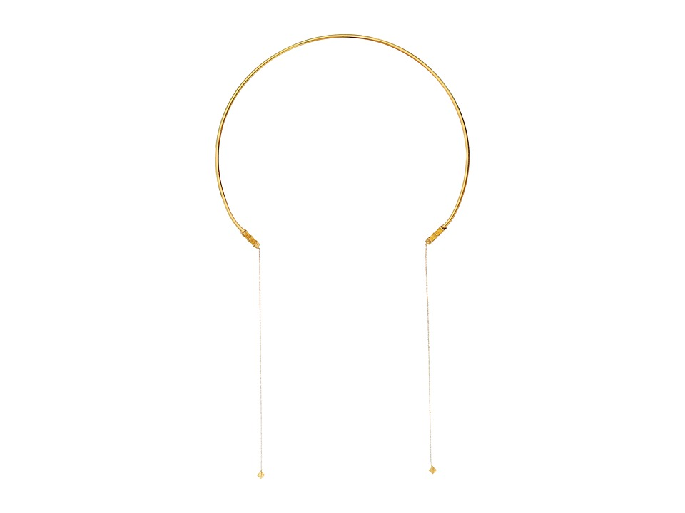 Vanessa Mooney - Thunderstruck Choker Necklace (Gold) Necklace