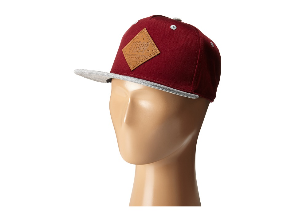 Neff - All Day Cap (Youth) (Maroon) Caps