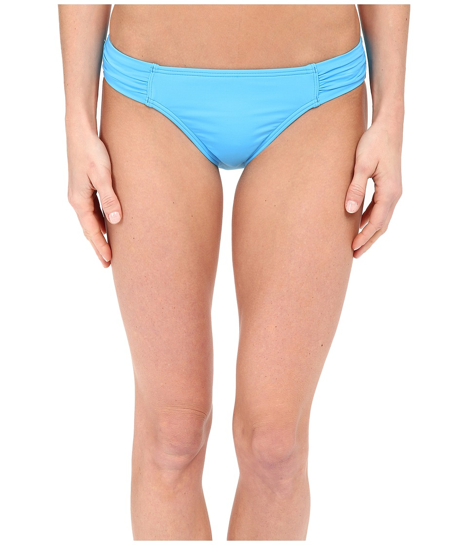 Tommy Bahama - Pearl Solids Side Shirred Hipster Bottoms (Island Blue) Women's Swimwear