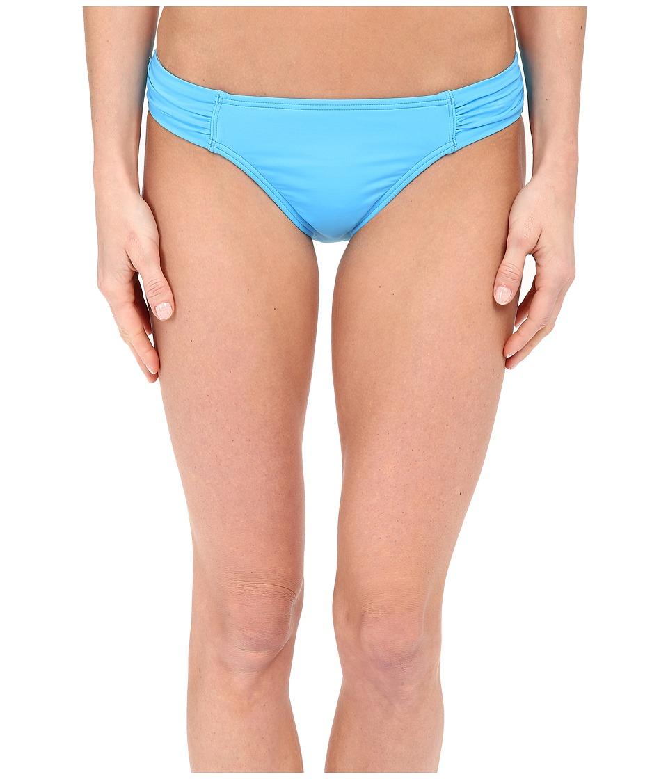 Tommy Bahama - Pearl Solids Side Shirred Hipster Bottoms (Island Blue) Women's Swimwear