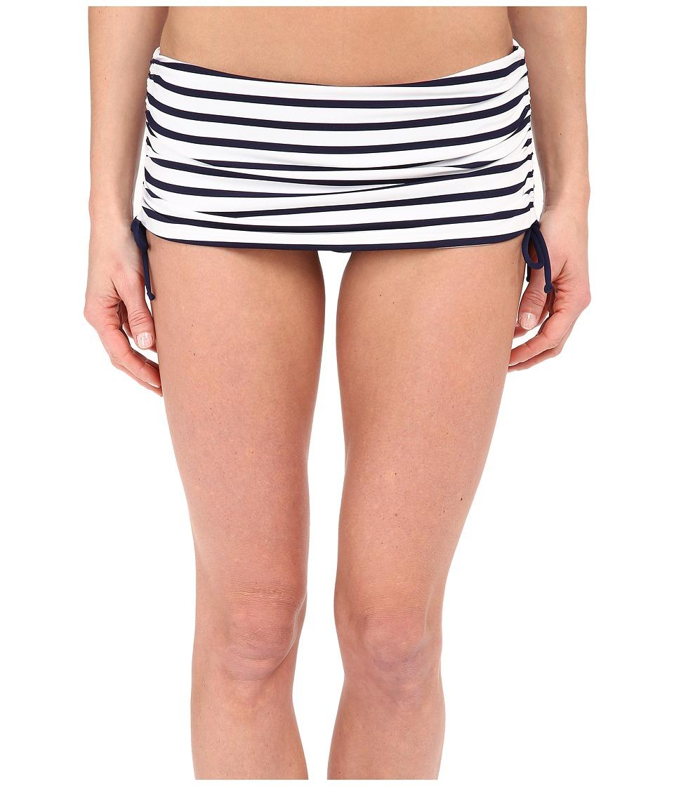 Tommy Bahama - Mare Stripe Side Shirred Skirt (Mare Navy) Women's Swimwear
