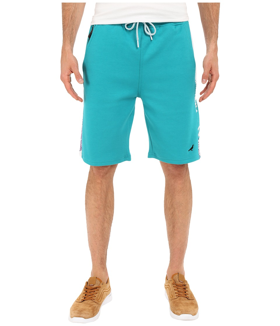 Staple - Volley Solid Sweatshorts (Teal) Men's Shorts