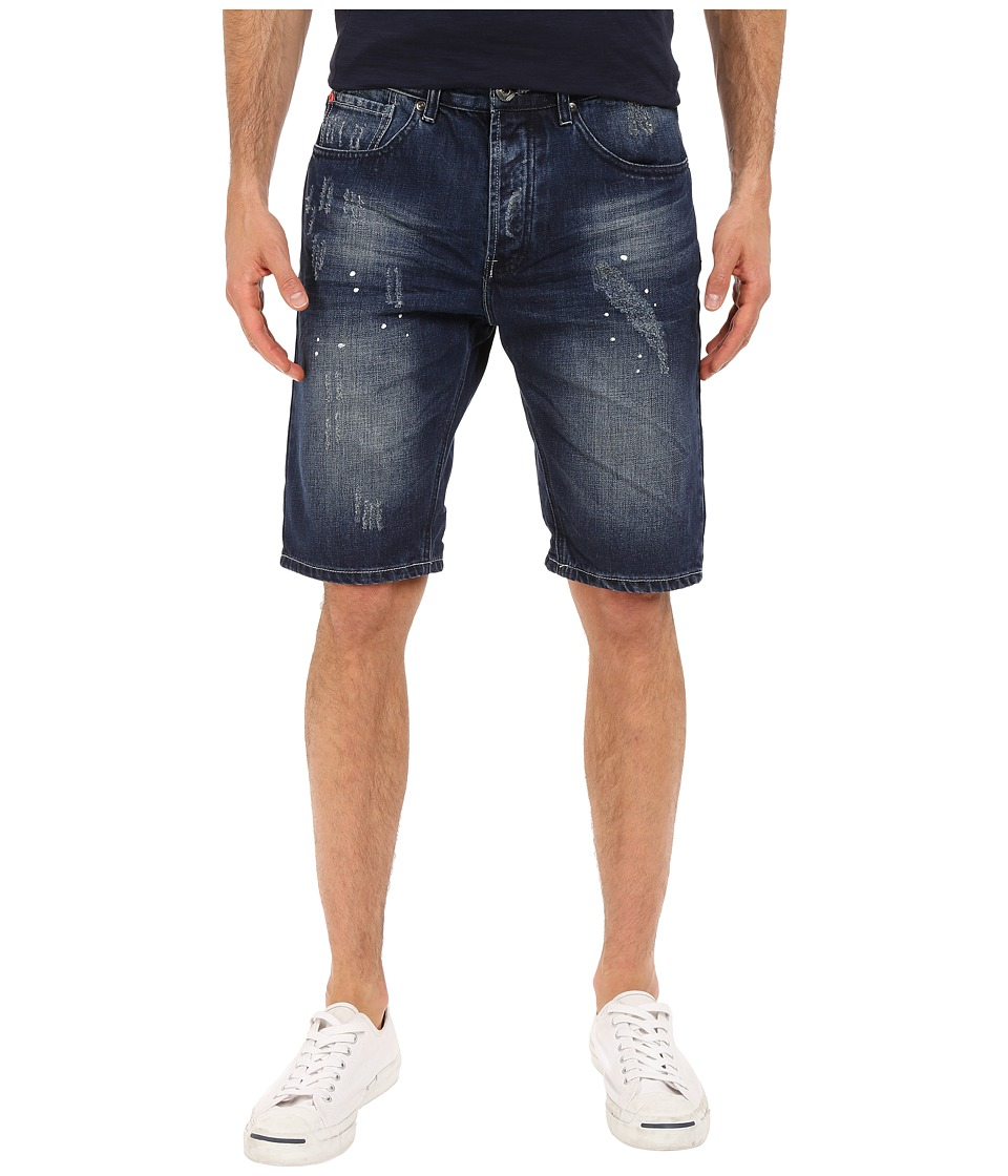 Staple - Splatter Denim Shorts in Dark Stone Wash (Dark Stone Wash) Men's Shorts