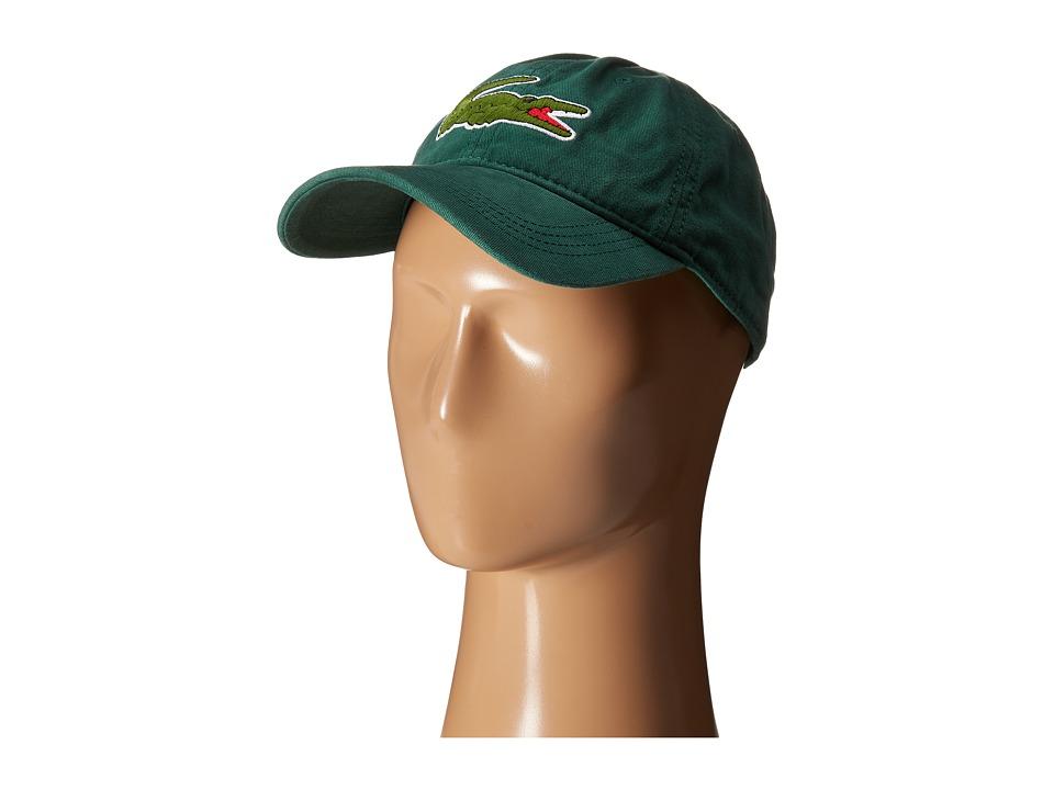 Lacoste - Big Croc Gabardine Cap (Pine Wood) Baseball Caps