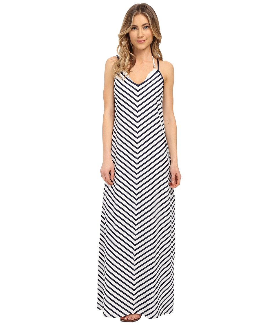 Tommy Bahama Mare Stripe Mitered Long Dress Cover-Up (Mare Navy) Women
