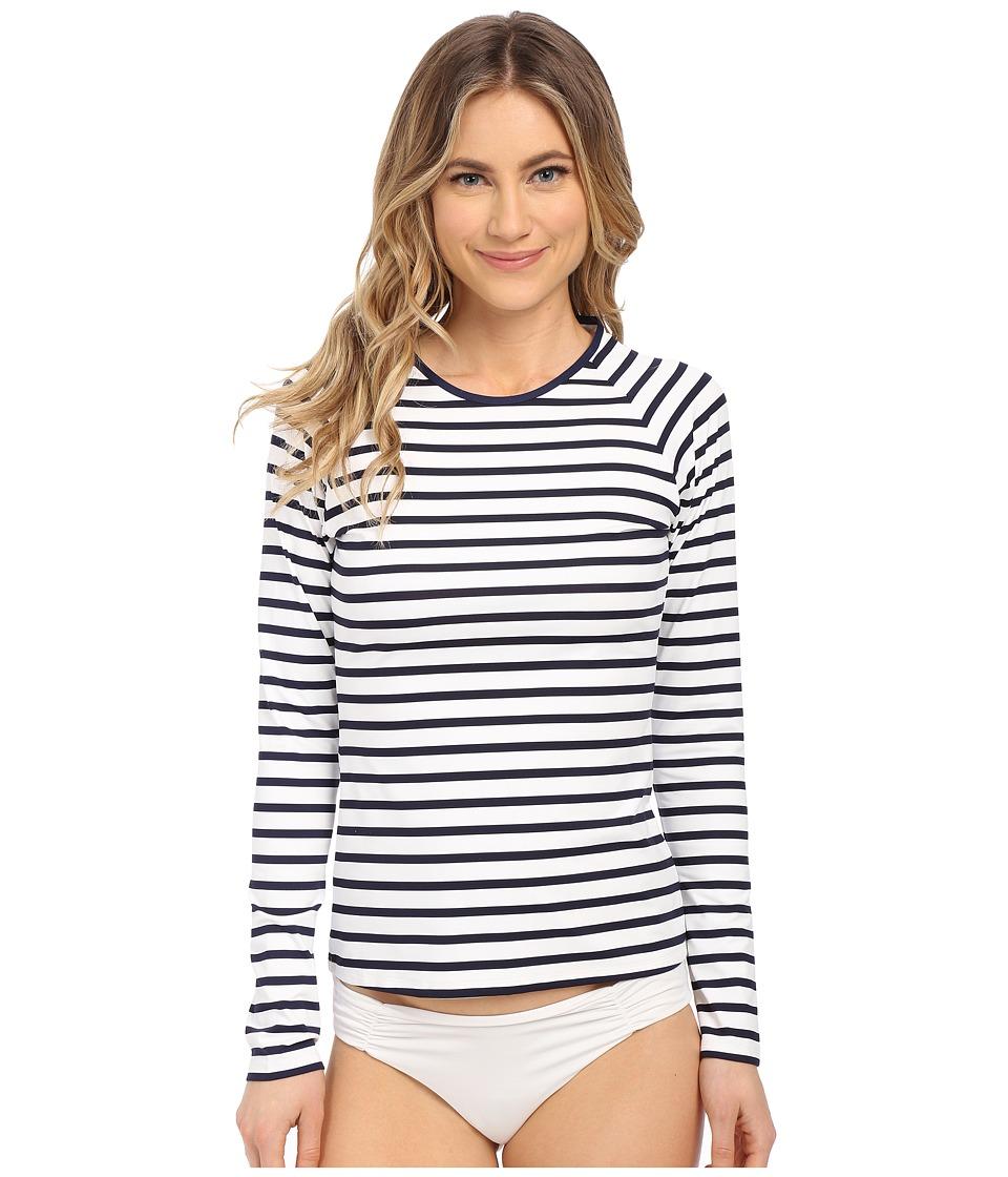 Tommy Bahama - Mare Stripe Long Sleeve Rashguard Cover-Up (Mare Navy) Women's Swimwear
