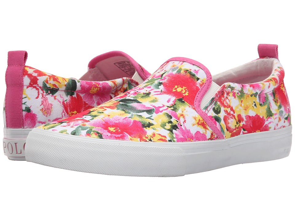 Polo Ralph Lauren Kids - Carlee Twin Gore (Little Kid/Big Kid) (Pink Floral) Girl's Shoes