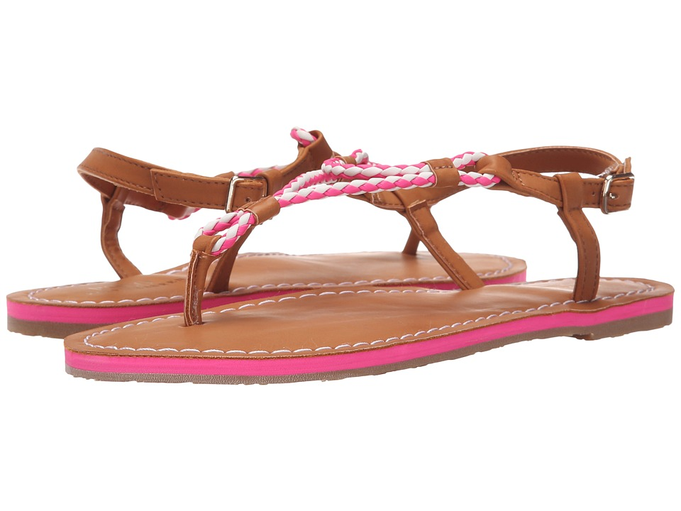 Polo Ralph Lauren Kids - Alexis (Little Kid/Big Kid) (Neon Pink Eva/Braided Thong) Girls Shoes