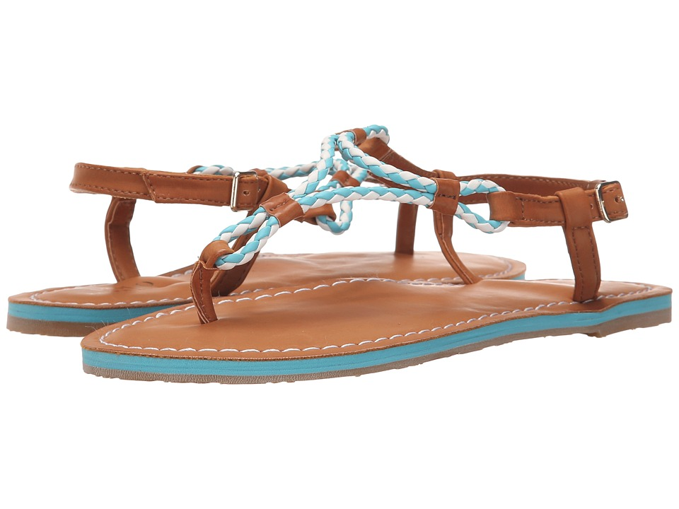 Polo Ralph Lauren Kids - Alexis (Little Kid/Big Kid) (Neon Turquoise Eva/Braided Thong) Girls Shoes