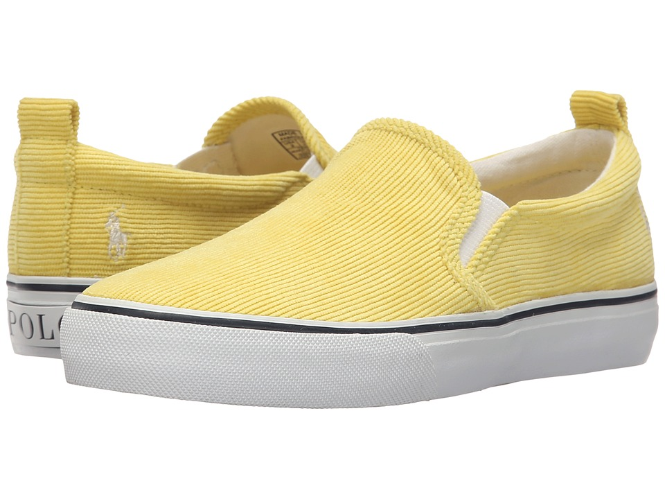 Polo Ralph Lauren Kids - Carlee Twin Gore (Little Kid/Big Kid) (Neon Yellow Corduroy) Girls Shoes