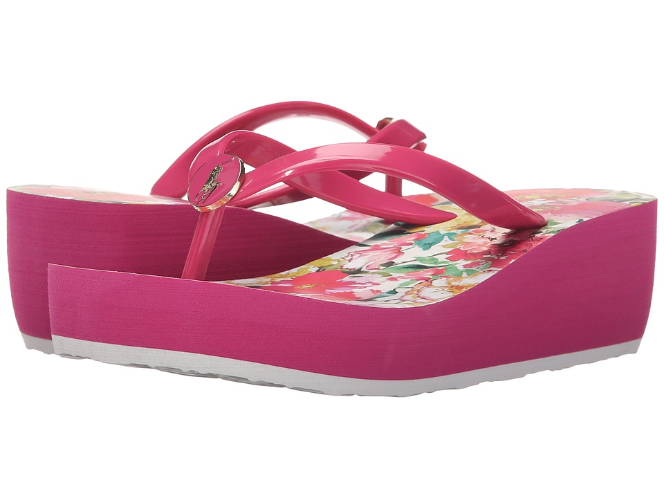 Polo Ralph Lauren Kids - Borolla II (Little Kid/Big Kid) (Ultra Pink/Pink Floral/Ultra Pink Eva) Girls Shoes