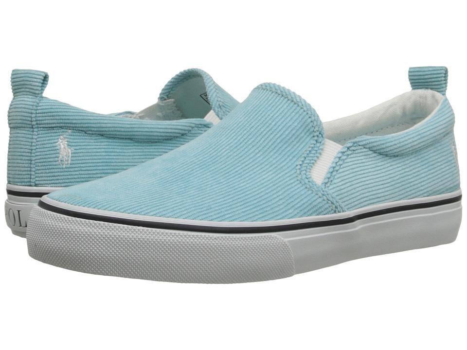 Polo Ralph Lauren Kids - Carlee Twin Gore (Little Kid/Big Kid) (Neon Turquoise Corduroy) Girls Shoes