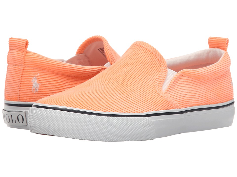 Polo Ralph Lauren Kids - Carlee Twin Gore (Little Kid/Big Kid) (Neon Melon Corduroy) Girls Shoes