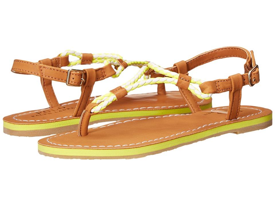 Polo Ralph Lauren Kids - Alexis (Little Kid/Big Kid) (Neon Citron Eva/Braided Thong) Girls Shoes
