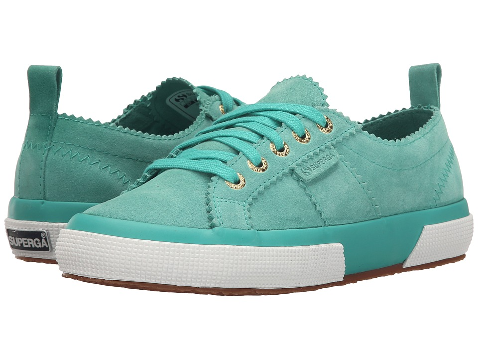 Superga - 2750 Sue W (Green) Women's Lace up casual Shoes