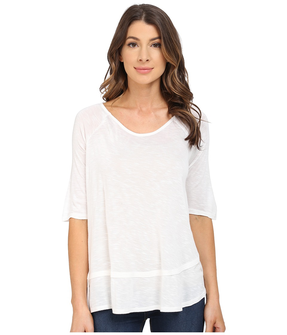 B Collection by Bobeau - Oversized T-Shirt (Ivory) Women's Short Sleeve Pullover